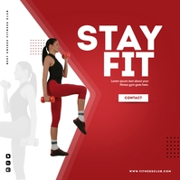 Fitness Workout/Crossfit Poster Instagram-Beitrag template