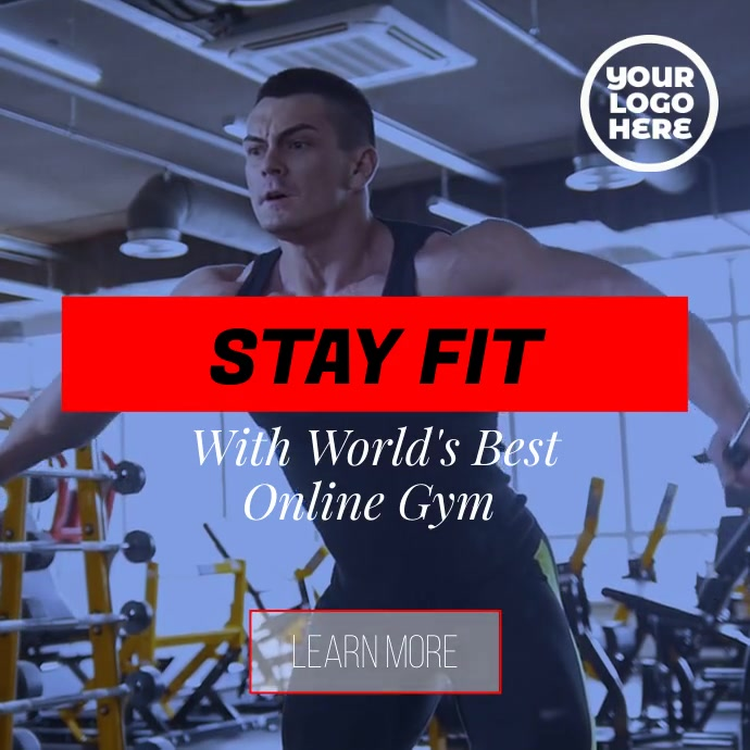 Fitness workout gym personal training system Instagram Post template