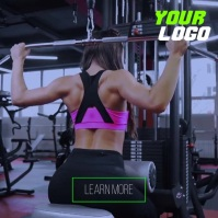 Fitness workout gym personal training system Instagram Plasing template