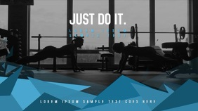 Fitness Workout Poster, Video Campaign