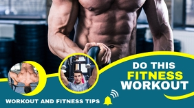 fitness workout youtube video thumbnail desig template