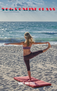 FITNESS YOGA ON BEACH Cover ng Libro template