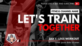 fitness youtube video design template