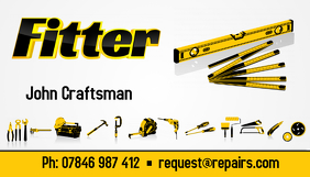 fitter business card