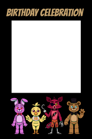 five nights at freddy's Party Prop Frame