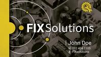 Fix Solutions Визитная карточка template