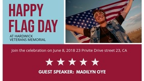 Flag Day Celebration Facebook Video Template
