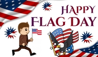 Flag Day Tag template