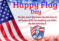 Flag day A4 template