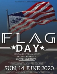 FLAG DAY EVENT Flyer Template