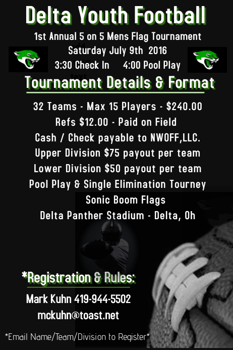 Flag Football Flyer Template  Postermywall