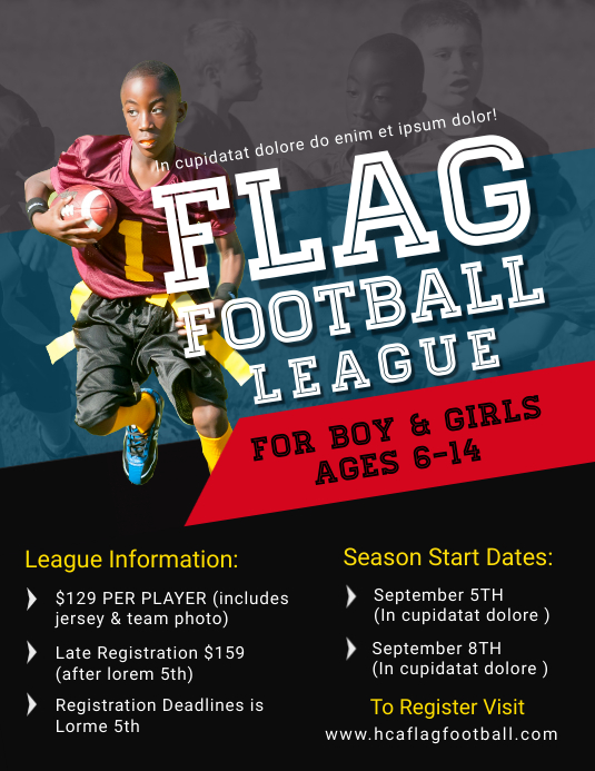 Flag Football Flyer Templates