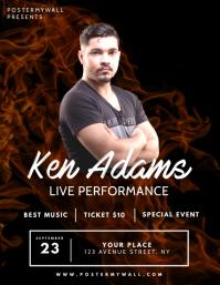Flame Black Band Singer concert flyer