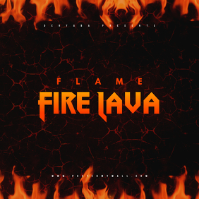 Flame Fire Lava CD Cover Template