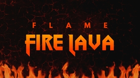 Flame Fire Lava Youtube Thumbnail