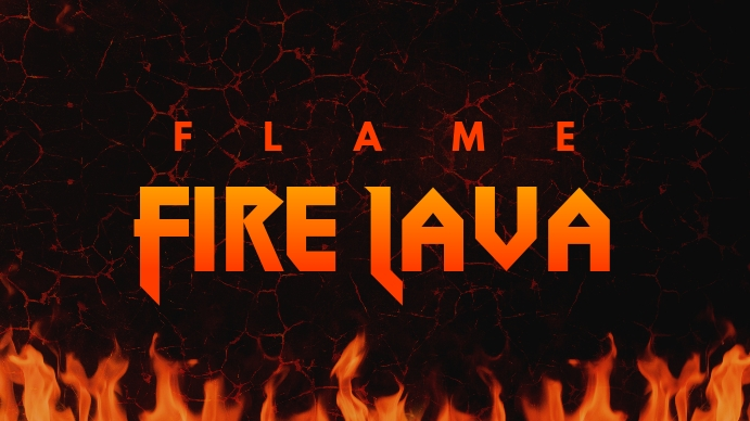 Flame Fire Lava Youtube Thumbnail template