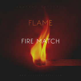Flame Fire Match CD Cover Template