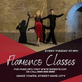 Flamenco dance class Square (1:1) template
