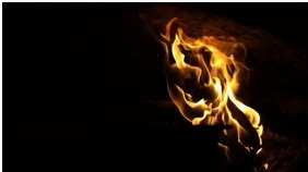 flames Ecrã digital (16:9) template