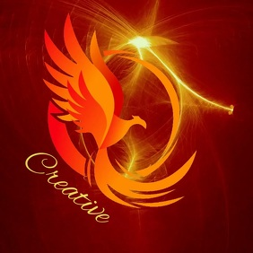 FLAMING EAGLE EYE LOGO DESIGN TEMPLATE