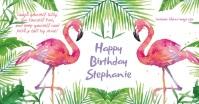 Flamingo Birthday Facebook Shared Image