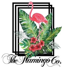 Flamingo Company Logo Логотип template