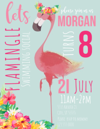 Flamingo Invitation