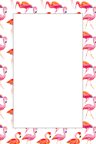 Flamingo Party Prop Frame
