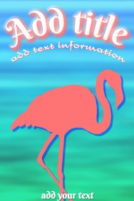 flamingo silhouette with water background