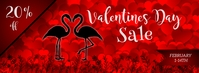 Flamingo Valentines Day Sale Facebook Cover Ikhava Yesithombe se-Facebook template