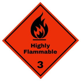 Flammable sign 3