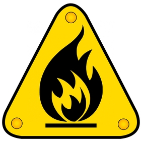 Flammable sign Logo template