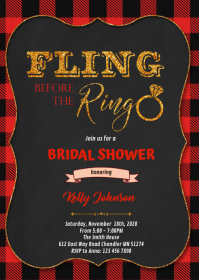 Flannel fling before the ring invitation