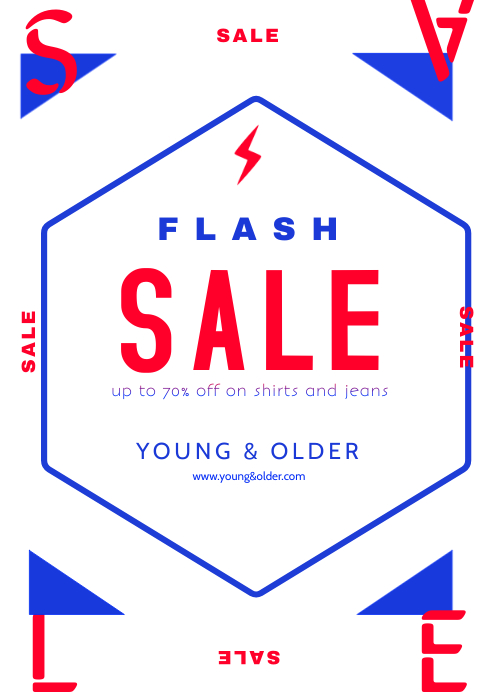 Flash Sale A4 Flyer