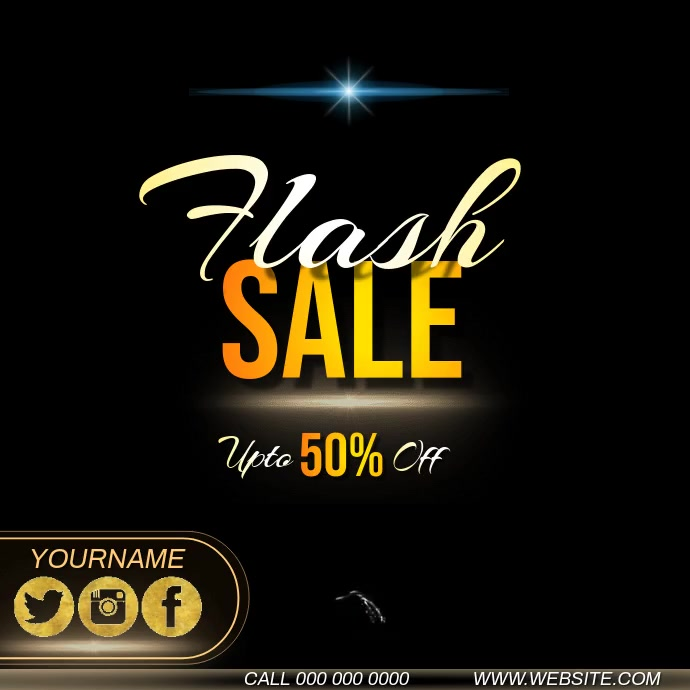 flash sale ad INSTAGRAM video TEMPLATE