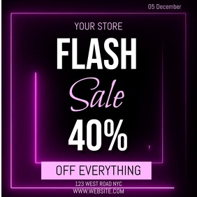 FLASH SALE AD SOCIAL MEDIA