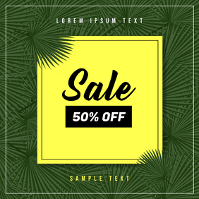 Flash Sale Ad Template Sampul Album