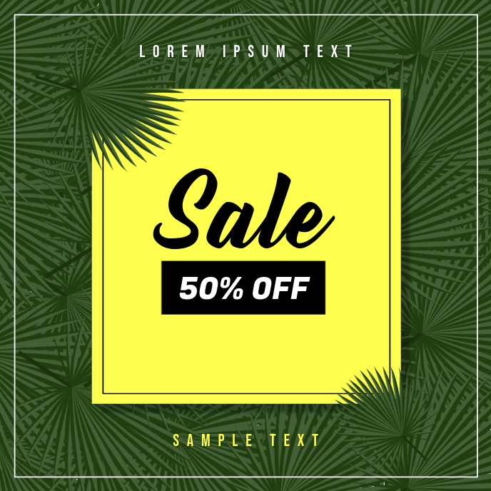 Flash Sale Ad Template Albumcover
