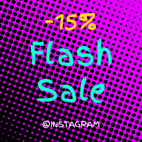 Flash Sale Colorful Instagram Template