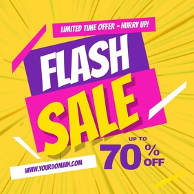 Flash Sale Facebook Instagram Post template