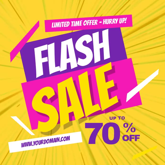 Flash Sale Facebook Instagram Post Instagram-opslag template