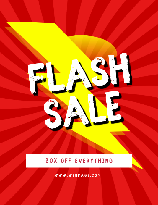 Flash sale flyer template
