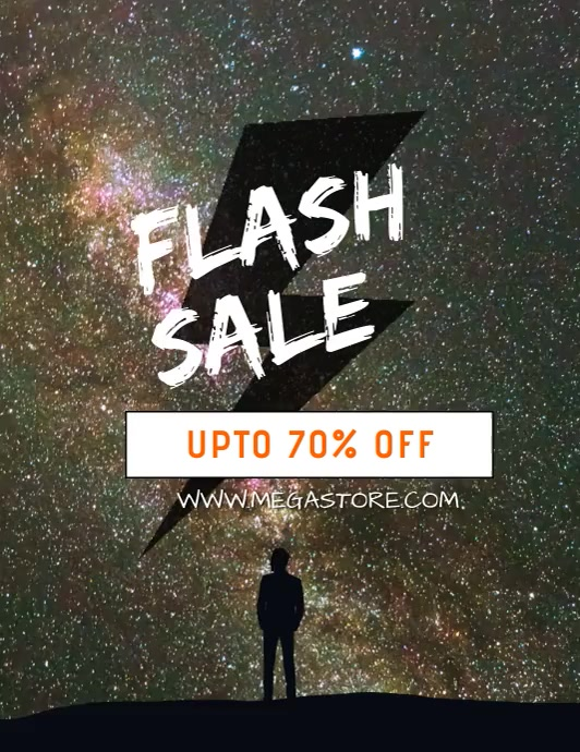 Flash Sale Flyer Video Pamflet (Letter AS) template