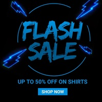 Flash Sale Instagram Post template