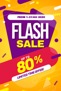 Flash Sale Promotion Poster Flyer Template 海报