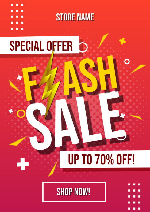 Flash Sale Special Flyer Template A4