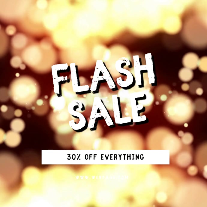 Flash Sale Video Ad Template instagram Kvadrat (1:1)
