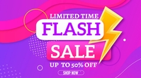 Flash Sales Background Design Display digitale (16:9) template