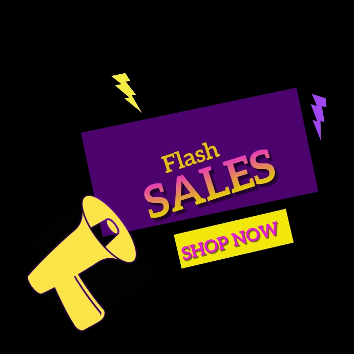 flash sales Instagram Plasing template