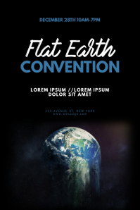 Flat Earth Convention Flyer Design Template